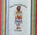 "***Croatian Cooking ~ Kitchen Towel ~ ""Every Time a Child is Born, So is a Baka"" (Also available as ""Baba"") with Multi Color, PRIGORJE Stripe!"