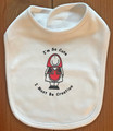 "BABY BIB with Velcro, ""I'm So Cute, I Must Be Croatian"" Design by Dunja Niemcic: NEW!"