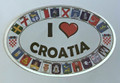 "DECAL: ""I LOVE CROATIA"" NEW! Limited Quantity Available!"