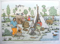 """RETURN TO NATURE/PICNIC"" by Josip Generalić, 1968 SIGNED ORIGINAL (""Povratak Prirodi"") STEEPLY Discounted Price!"