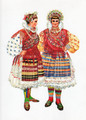*Vladimir Kirin Costume Prints ~ Imported from Croatia: Village of Brodanci, Region of Slavonija-Valpovo, Croatia