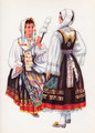 *Vladimir Kirin Costume Prints ~ Imported from Croatia: Town of Vrbnik, Island of Krk, Region of Primorje, Croatia