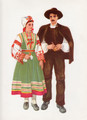 *Vladimir Kirin Costume Prints ~ Imported from Croatia: Village of Peroj, Region of Istra, Croatia