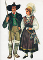 *Vladimir Kirin Costume Prints ~ Imported from Croatia: Town of Bled, Slovenija