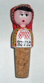 *ŽIVIO! Wine Bottle Corks, Handpainted and Imported from Croatia (PRIGORJE Woman) RE-STOCKED!