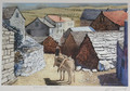 "*Miho Simunovic Watercolors ~ ""Dalmatian Village"" - 11 in x 14 in"