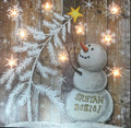 "Snowman Plaque with ""Sretan Bozic!"" that LIGHTS UP! NEW!"
