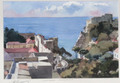 "*Miho Simunovic Watercolors ~ ""Lovrijenac-Dubrovnik"" - 11 in x 14 in"