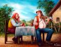 """MusicialConversation"" by Miroslav Pintar ~ 8 x 10"