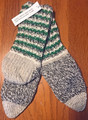 Slipper Socks for Men's Sizes, Hand-Knit in Crni Lug, Gorski Kotar, Imported from Croatia:  SOLD OUT!!