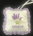 *Adriatic Spa Collection ~ Lavender Square Sachet with Lavender Lace, Imported from Croatia! PRICE DROP! SOLD OUT!