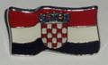 Lapel Pin ~ Flag with GRB (Croatian Crest): Imported from Croatia! NEW!