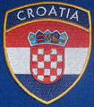 Embroidered CROATIAN Patch, Imported from Croatia! Re-Stocked!