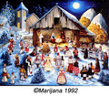 "Christmas Cards ""Villagers Visit the Manger"" by Marijana Pintar Grisnik - SOLD INDIVIDUALLY!"