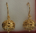 **14 K Gold Sibenski Botuni Earrings,6.83g ~ Full Ball: NEW SIZE! RE-STOCKED! 3rd PRICE DROP!