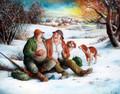"""JOVIAL PAIR"" by Miroslav Pintar ~ 8 x 10"