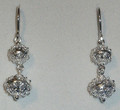 *Sterling Silver Double Ball Botuni Earrings, 5.43g  ~ Imported From Croatia: DISCOUNTED! RE-STOCKED!