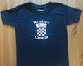T-Shirt: Youth Unisex Style ~ CROATIAN GRB ~  HRVATSKA! (Navy Blue):  NEW!