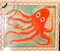 ****Magnet, Original Images by Croatian Artist, Mario Barisin: (Octupus)  CLEARANCE!