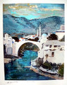 "*Miho Simunovic Watercolors ~ ""Mostar"" - 11 in x 14 in"