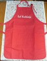 "**Apron ~ ""Šef Kuhinje"" ~ (Chef/Chief of the Kitchen) Apron ~ RED"