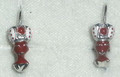Earrings ~ Handmade Sterling Silver 2.83g MORČIĆ Earrings Imported from Croatia, Deep Rose with Coral:  Price Drop!