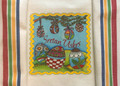 "**Croatian Cooking ~ Kitchen Towel ~ ""Easter"" with Multicolor Prigorje Stripe ! RE-STOCKED!"