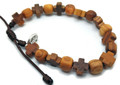 *Prayer Bracelet Handmade from CROATIAN OLIVE WOOD Beads and Crosses, Imported from Međugorje! NEW! (#2)