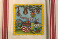 "**Croatian Cooking ~ Kitchen Towel ~ ""Easter"" with Croatian RED Stripes ! ONE AVAILABLE!!"