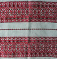 **(3C) Tabletopper, Woven Geometric Folk Pattern: Imported from Croatia! NEW! 27.5 in x 27.5 in (70 cm x 70 cm) DISCOUNTED PRICE!  RE-STOCKED!