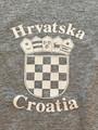 T-Shirt: Youth Unisex Style ~ CROATIAN GRB ~  HRVATSKA! (Soft Grey): NEW!