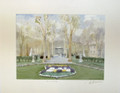 "*Miho Simunovic Watercolors ~ ""Zrinjevac Park, Zagreb"" - 11 in x 14 in  SOLD OUT!"