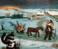 "****Ivan Generalic, Master Naive Artist ""Christmas"" 1962 ~ NOW UV-COATED for PROTECTION! RE-STOCKED!"