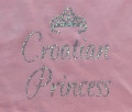 "T-Shirt with Ruffled Bottom ""Croatian Princess"" Toddler Sizes: NEW!"