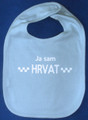 "BIB: ""Ja Sam HRVAT"" (I am CROATIAN) for Baby Boys: CLEARANCE!"