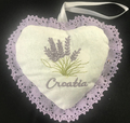 Adriatic Spa Collection ~ Lavender Heart Sachet with Lavender Lace, Imported from Croatia!  RE-STOCKED! REDUCED PRICE!