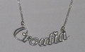 """CROATIA"" Sterling Silver Necklace, 5.17g: Imported from Croatia, RE-STOCKED! DISCOUNTED!"