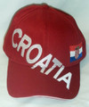*****Ball Caps Imported from Croatia! Red: NEW for 2018! SOLD OUT!