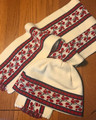 Scarf and Hat SET from Slavonija, Croatia! (Vine Motif): NEW! (Hat Size L-XL)  CREAMY WHITE   SOLD OUT!