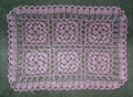 ****Handmade Crocheted Lace from Croatia by Durda Janes, ONE-OF-A-KIND: NEW! (palepink)