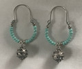 Earrings with Turquoise Beads and Botuni, Imported from Croatia: (Hoops) SOLD OUT!