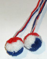 Tamburica Pom Poms, Handmade and Imported from Croatia: RE-STOCKED! Price is per pair!