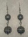 Earrings with Double Ball Botuni, Imported from Croatia: NEW! (Large): RE-STOCKED!