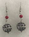 Earrings with Coral Seed Beads and Botuni, Imported from Croatia: (Medium) SOLD OUT!