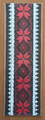 *BOOKMARKS, Handmade with Woven Textiles from Croatia! (Red & Black): NEW! RE-STOCKED!