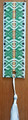 BOOKMARKS, Handmade with Woven Textiles from Croatia! (Green with White Tassel): NEW!  SOLD OUT!