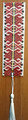 BOOKMARKS, Handmade with Woven Textiles from Croatia! (Red with White Tassel): NEW!