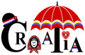 """Croatia"" graphic on the front of apron."