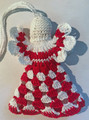 *ANGEL ORNAMENT, Šahovnica Pattern: Handmade Crocheted Lace from Croatia by Durda Janes, NEW! Larger Size and Filled Body! (WWings)