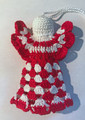 *ANGEL ORNAMENT, Šahovnica: Handmade Crocheted Lace from Croatia by Durda Janes, NEW! Larger Size and Filled Body!